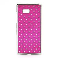 Drahokamové puzdro pre HTC Desire 600- ružové