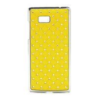 Drahokamové puzdro pre HTC Desire 600 -žlté