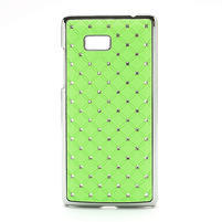 Drahokamové puzdro pre HTC Desire 600- zelené