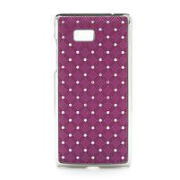 Drahokamové puzdro pre HTC Desire 600- fialové