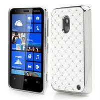Drahokamové puzdro na Nokia Lumia 620- biele