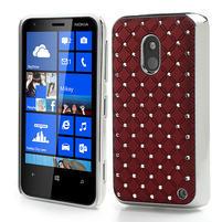 Drahokamové puzdro na Nokia Lumia 620- červené