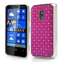 Drahokamové puzdro na Nokia Lumia 620- ružové