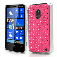Drahokamové puzdro na Nokia Lumia 620- svetleružové