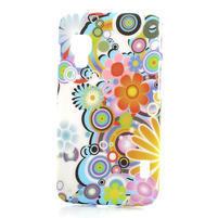 Plastové puzdro pre LG Optimus L5 Dual E455- krásné květiny