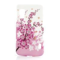 Plastové puzdro pre LG Optimus L5 Dual E455- kvitnúce vetvička