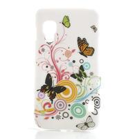 Plastové puzdro pre LG Optimus L5 Dual E455- živé motýľi