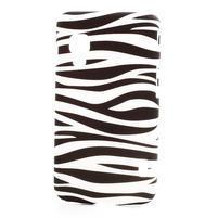 Plastové puzdro pre LG Optimus L5 Dual E455- zebra