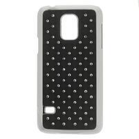 Drahokamové puzdro pre Samsung Galaxy S5 mini G-800- čierne