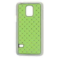 Drahokamové puzdro pre Samsung Galaxy S5 mini G-800- zelené