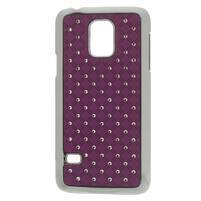 Drahokamové puzdro pre Samsung Galaxy S5 mini G-800- fialové