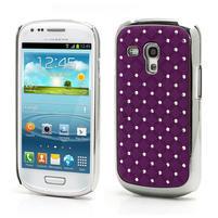 Drahokamové puzdro pre Samsung Galaxy S3 mini i8190- fialové