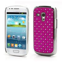 Drahokamové puzdro pre Samsung Galaxy S3 mini i8190- ružové