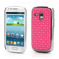Drahokamové puzdro pre Samsung Galaxy S3 mini i8190- svetlo-ružové