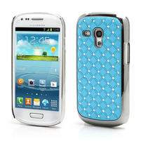 Drahokamové puzdro pre Samsung Galaxy S3 mini i8190- svetlo-modré