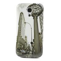 Plastové pouzdro na Samsung Galaxy S4 mini i9190- městské hodiny