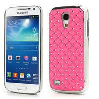 Drahokamové puzdro pro Samsung Galaxy S4 mini i9190- svetloružové