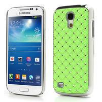 Drahokamové puzdro pro Samsung Galaxy S4 mini i9190- zelené