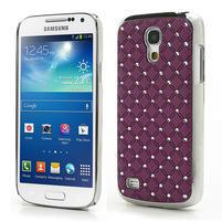 Drahokamové puzdro pro Samsung Galaxy S4 mini i9190- fialové