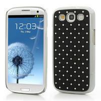 Drahokamové puzdro pre Samsung Galaxy S3 i9300 - čierné