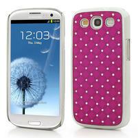 Drahokamové puzdro pre Samsung Galaxy S3 i9300 - řůžové