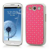 Drahokamové puzdro pre Samsung Galaxy S3 i9300- svetlo-ružové
