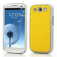 Drahokamové puzdro pre Samsung Galaxy S3 i9300 - žltá