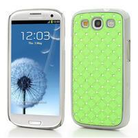 Drahokamové puzdro pre Samsung Galaxy S3 i9300 - zelené