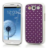 Drahokamové puzdro pre Samsung Galaxy S3 i9300 - fialové