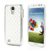 Drahokamové puzdro pro Samsung Galaxy S4 i9500- biele