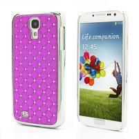 Drahokamové puzdro pro Samsung Galaxy S4 i9500- ružové