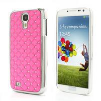 Drahokamové puzdro pro Samsung Galaxy S4 i9500- svetlo-ružové