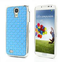 Drahokamové pouzdro pro Samsung Galaxy S4 i9500- světle-modré
