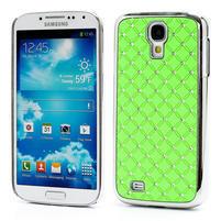 Drahokamové puzdro pro Samsung Galaxy S4 i9500-zelené