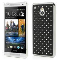 Drahokamové puzdro pre HTC one Mini M4- čierné