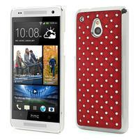 Drahokamové puzdro pre HTC one Mini M4- červené