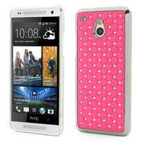 Drahokamové puzdro pre HTC one Mini M4- svetloružové