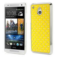 Drahokamové puzdro pre HTC one Mini M4- žlté