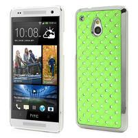 Drahokamové puzdro pre HTC one Mini M4- zelené