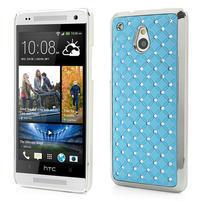 Drahokamové puzdro pre HTC one Mini M4- svetlo modré