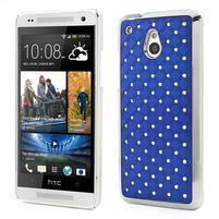 Drahokamové puzdro pre HTC one Mini M4- modré