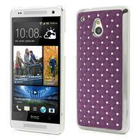 Drahokamové puzdro pre HTC one Mini M4- fialové