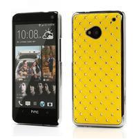 Drahokamové puzdro pre HTC one M7- žlté