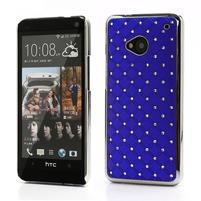 Drahokamové puzdro pre HTC one M7- modré