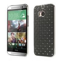 Drahokamové puzdro pre HTC one M8- čierné