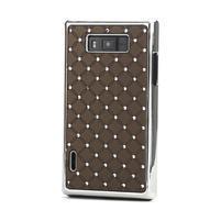 Drahokamové puzdro pre LG Optimus L7 P700- coffee