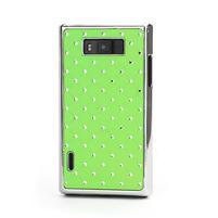 Drahokamové puzdro pre LG Optimus L7 P700- zelené