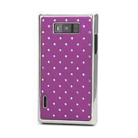 Drahokamové puzdro pre LG Optimus L7 P700- fialové