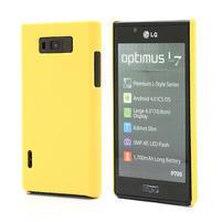 Texturované puzdro pre LG Optimus L7 P700- žlté