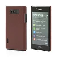 Texturované  puzdro pre LG Optimus L7 P700- hnedé